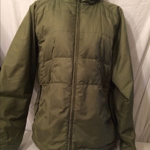 Timberland army green down jacket M